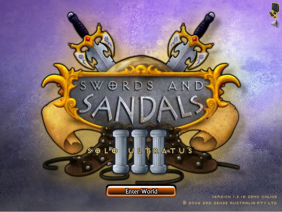 Swords and Sandals 3: Solo Ultratus Publisher's Description